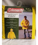 Coleman Polyurethane Tricot Parka Yellow 3XL Adult - $42.08