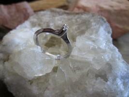 Vintage 14K White Gold 02 point Diamond Promise Valentine Solitaire Ring... - $70.00