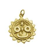 Lord Universe Jagannath Hindu Buddhist Buddha Vishnu 24K Gold Plated charm - $37.61