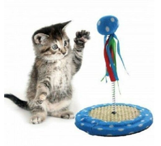 Cat Punch Ball Interactive Toy with Scratching Base CLEARANCE - SAME-DAY... - $12.33 CAD