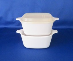 Corning All White, P-43 Petite Pans, 2 3/4 cup capacity, 1 Plastic Cover - $11.00