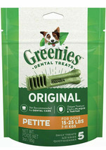 Greenies Original Dental Petite Treats for Dogs 15-25 Pounds 5 Count - $8.75