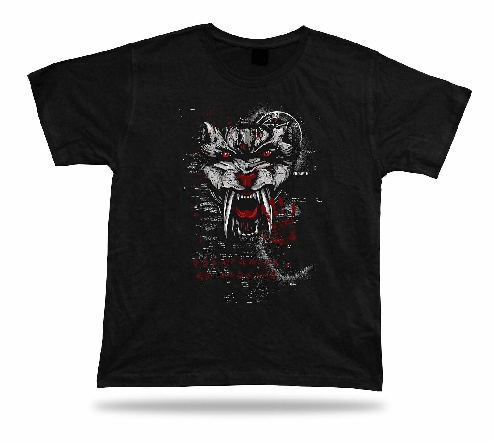 Primary image for Monster Teeth skull art design Tshirt birhday apparel special spiritual gift