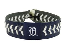 MLB Detroit Tigers Team Color Leather Baseball Bracelet - $12.99