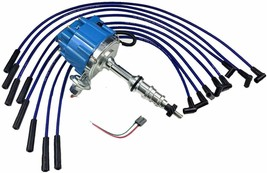 FORD FE 332 352 360 390 406 427 428 BLUE HEI Distributor + 8mm SPARK PLUG WIRES