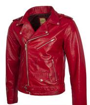 BUY Genuine Leather Bomber Jacket For Men! Biker Jacket for Men! Slim Fit  - $129.00+