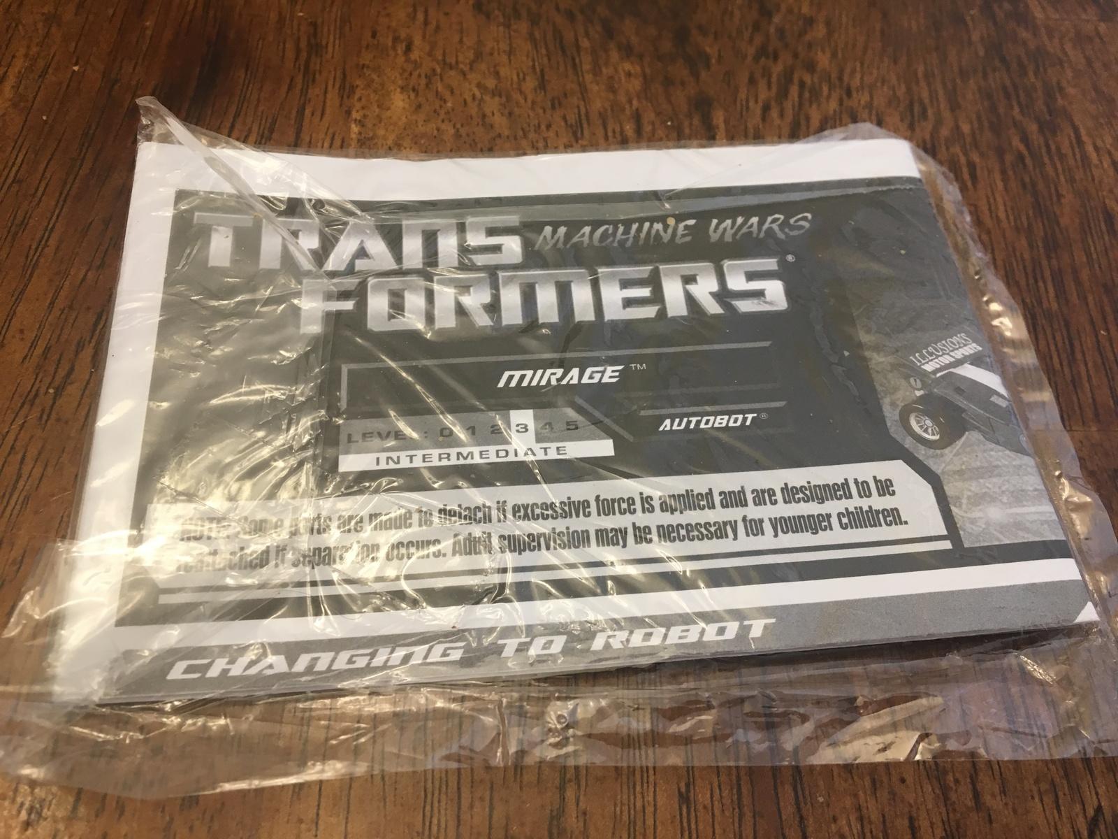 Transformers MIRAGE Botcon Machine Wars 2013 New Sealed