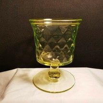 Bryce Quilted Diamond #1000 Pedestal Sugar Canary Glass EAPG Into 1885 - $19.95