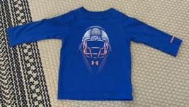 Boy's Under Armour Long Sleeve Shirt Size 12 Months FOOTBALL Blue - $12.19