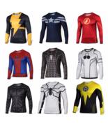 Superhero Costume Tee Spiderman Captain America Superman T-Shirt Sports Jersey - $14.39