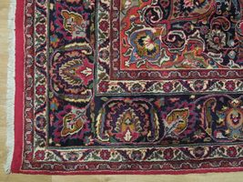 Red Wool Rug 10' x 12' Scarlet Vivid Original Traditional Persian Handmade Rug image 7