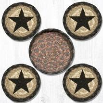New Country Black Star jute Coaster set -set 4 - $24.99