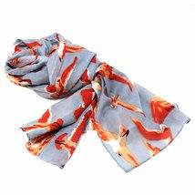 Hand-printed Cotton Scarf, Birds Design - $29.99