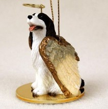 SPRINGER ( LIVER WHITE) ANGEL DOG CHRISTMAS ORNAMENT Figurine Statue Mem... - $12.98