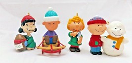 Hallmark The Peanuts Gang Charlie Brown Lucy Sally Linus Collector's Series Set  - $16.10