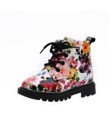 Girls pink and white Floral ankle boots kids fashion boots girls snow b... - $49.99+