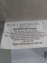 "Gold Metallic Embroidered Lumbar Pillow Fieldcrest 12"" x 18"" Feather Down Fill image 9"