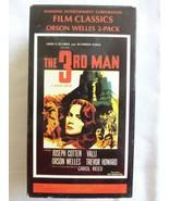 The 3rd Man &The Stranger Orson Welles Film Classics RARE 2 Pack B/W VHS - $8.56