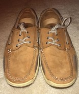 Men's Magellan Outdoors Brown Leather Lace Up Shoes Size 9E - $33.66