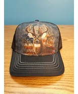 Whitetail Deer American Flag Trucker Hat Cap The Mountain Hunting One Size - $9.41