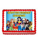 Superhero Girls Party Edible Cake topper decoration - personalized free! - $7.80