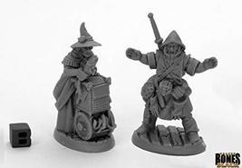 Reaper Miniatures Dreadmere Townsfolk: Fishmongers (2) 44035 Bones Black Plastic - $7.86