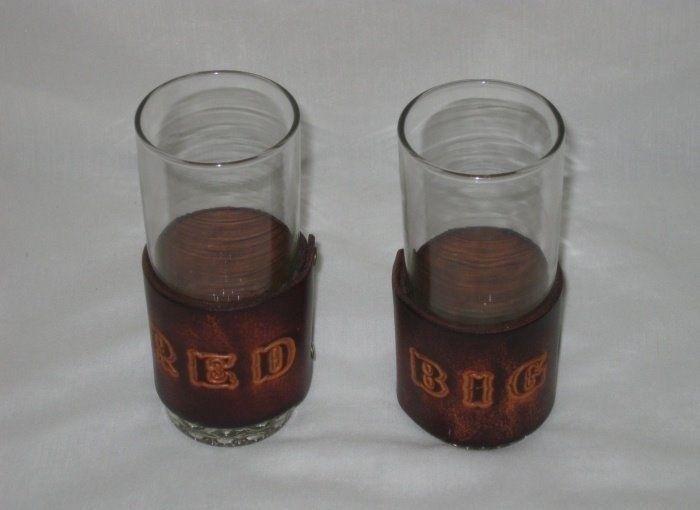 "Great Pair 6"" Nebraska BIG RED Drinking Glasses"