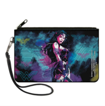 Dawn of Justice Wonder Woman Logo Pose Canvas Zipper Wallet - $17.44