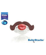 BabyStache Kissable Baby Pacifier Professional Brown Child Infant Shower... - $8.99