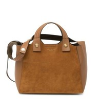 TORY BURCH Rory Suede & Leather Mini Tote Bag, Classic Tan - $428.00