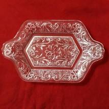 VTG Indiana Taira Glass Clear Sandwich Undertray for Diamond Creamer Sug... - $24.75