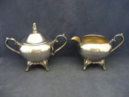 Wm Rogers Silver Plated Covered Sugar Bowl & Cream Pitcher - $29.95