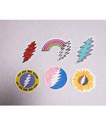 6 Sticker Set  Grateful Dead Bolt  Stickers  Deadhead Water Bottle Laptop - $6.99