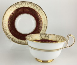Royal Stafford G148 Cup & saucer Red & Gold - $30.00