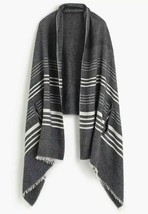 J. Crew cape scarf Charcoal  Heather Gray white Striped  - €25,87 EUR