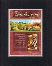 Thanksgiving is 8 x 10 Inches Biblical/Religious Verses set in Double Beveled Ma - $11.14