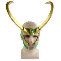 Thor Loki Mask Helmet Halloween Cosplay Season PVC - $64.35 CAD