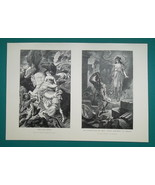 MYTHOLOGY, DIdo Aeneas Fall of Troy Iphigenia -  2x 1893 Victorian Era P... - $18.00