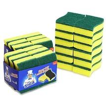 """MR. SIGA Heavy Duty Scrub Sponge, 24 Count, Size:11 x 7 x 3cm, 4.3"""" x 2.... - $15.43"""