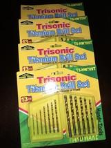 New Lot Of 4 Trisonic 13 Pieces Titanium Drill Bit Sets - $25.23