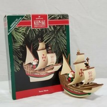 Vintage 1992 Hallmark Keepsake Ornament Santa Maria Ship Christopher Columbus - $5.99