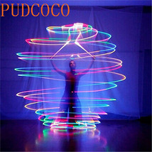 2 Balls+2 Ropes 1 Pair LED POI Thrown Balls for Professional Belly Dance... - £12.81 GBP