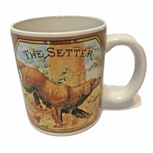 Vintage Enesco 1985 Coffee Cup Mug John Grossman Antique Cigar Label The Setter - $11.35