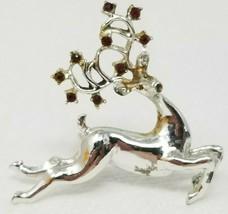 Vintage Mid Century Modern Majestic Reindeer Prancing Brooch Pin - $12.82