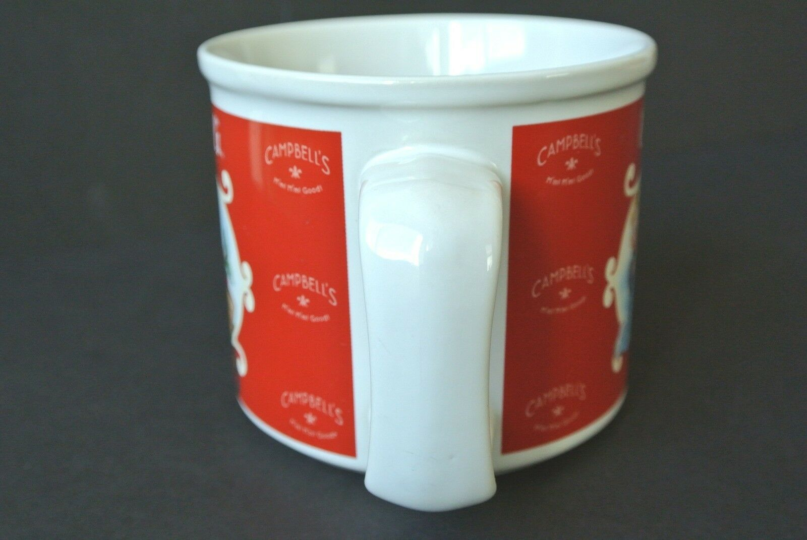 2002 Campbell's Kids Tomatoes Garden Soup Bowl Cup Mug 31981 Houston Harvest