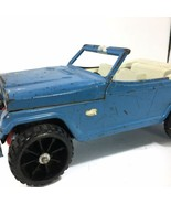 Vintage Tonka Jeepster Blue NO TOP Restoration Project Jeep Only - $24.72