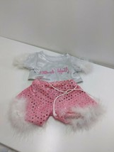 The Bear Mill Rock Idol  Pink sparkly white Clothing Shorts Shirt head p... - $15.67