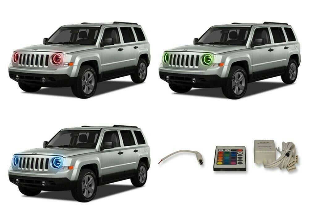 Primary image for LED Headlight Halo Ring Multi-Color IR Kit for Jeep Patriot 07-16