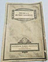 1937 National Radio Institute MRI Iron Core A.F. Power Transformers Manu... - $9.99