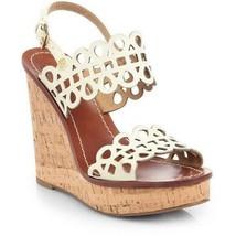 TORY BURCH Nori Laser Cut Wedge sandals  9.5 women - $86.89
